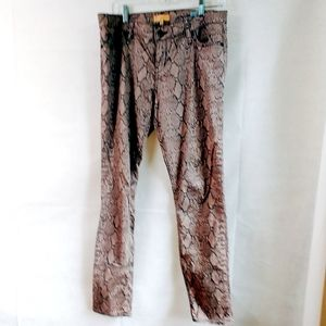 Anthropologie Sanctuary Brown Snake Print Pants 29